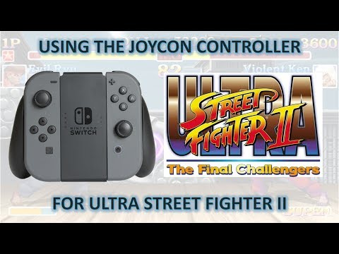 Using The Joycon Controller With Ultra Street Fighter II (USF2)