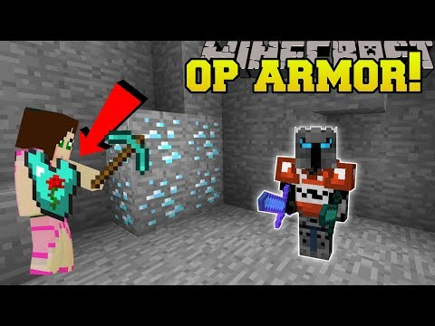 Minecraft: OVERPOWERED ARMOR!!! (SUPER SPEED MINING, FLYING & MORE!!) Custom Command