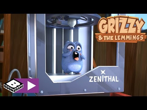 Grizzy and the Lemmings   3D Printer   Boomerang Africa