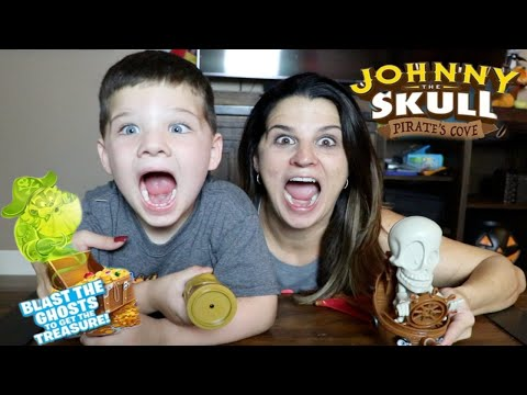 CALEB and MOMMY Play JOHNNY the SKULL PIRATE GAME FAmily Fun GAmes for KIDS! Caleb Kids Show