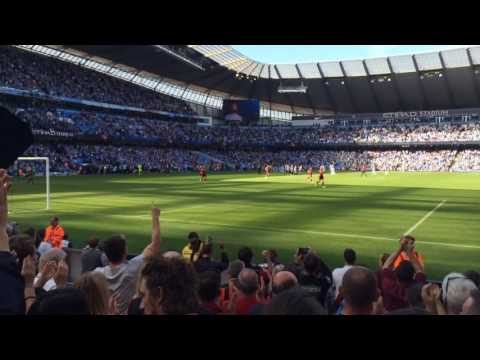 AFC Bournemouth entrance to the Etihad