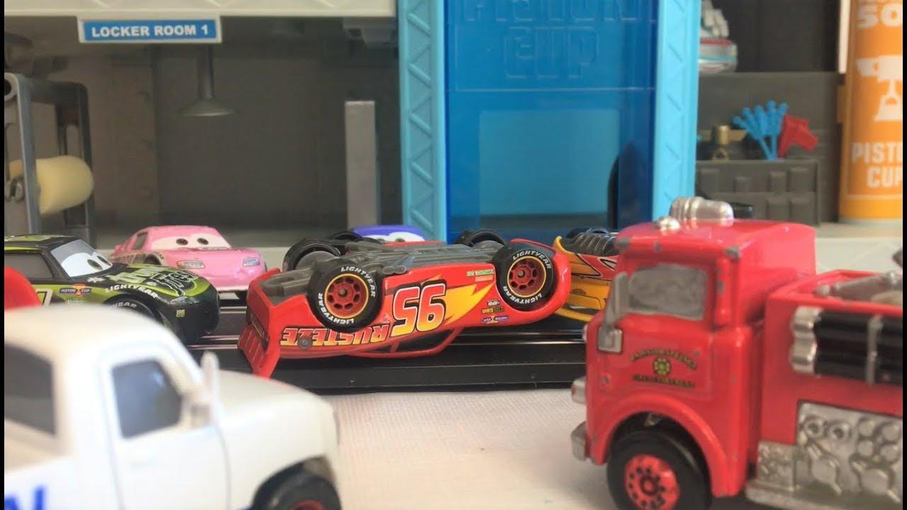 cars 3 rust eze adventures season 3 ep 2 career ending crash youtube