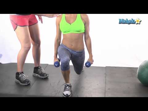 How to Do Forward Lunges with Dumbbells