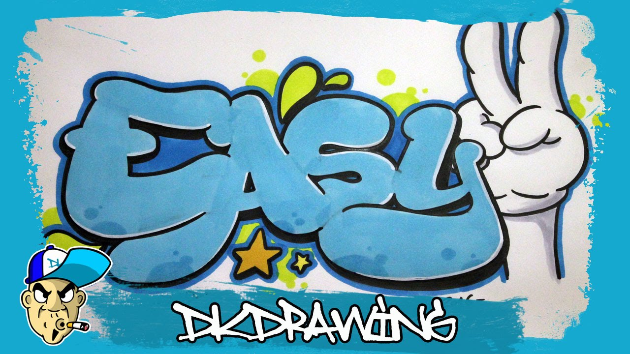 Graffiti tutorial how to draw easy graffiti bubble style letters youtube