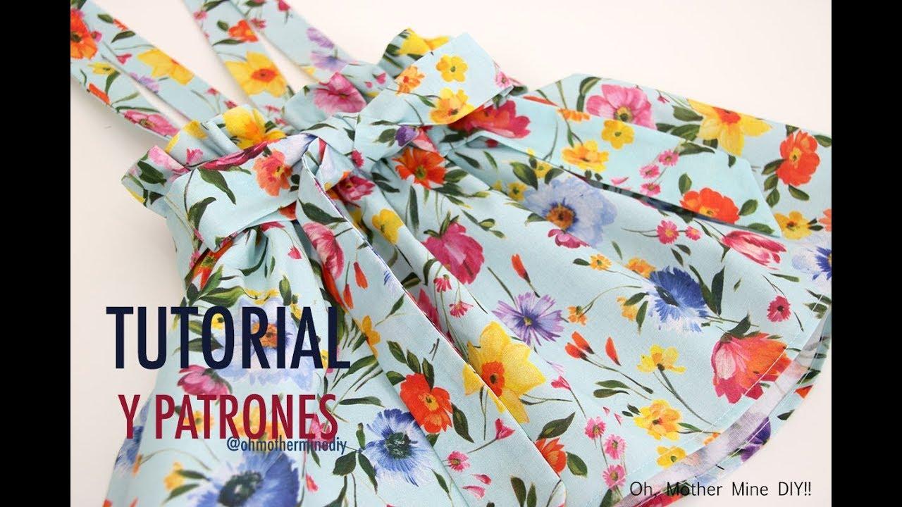 57c79a773 Patrones falda para niñas con tirantes (patrones gratis hasta talla 8 años)