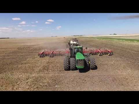 Seeding Lentils 2017 Assiniboia, Saskatchewan. Poverty Flats Drone video