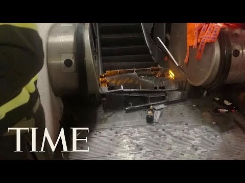 20 Russian Soccer Fans Were Injured In A Dramatic Escalator Accident In Rome | TIME