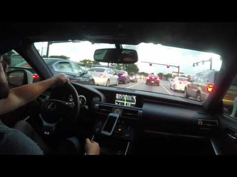 2015 Lexus IS 250 F in cabin magnaflow cat back exhaust sound