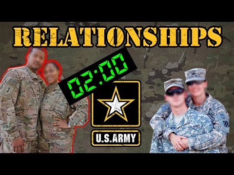 dating while in the army