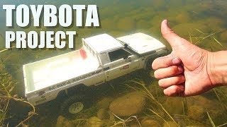 RC ADVENTURES - TOYBOTA PROJECT - PT 1 - BBC TOP GEAR TRiBUTE BUiLD - TOYOTA TRUCK-BOAT!