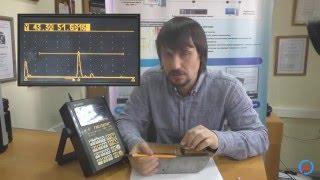 Робота з дефектоскопом УД3-103. Настройка кута введення