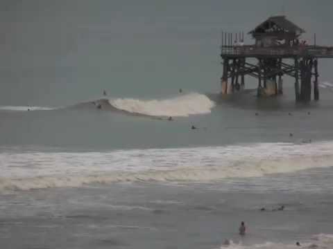 Surfing Cocoa Beach Florida During Tropical Storm Fay