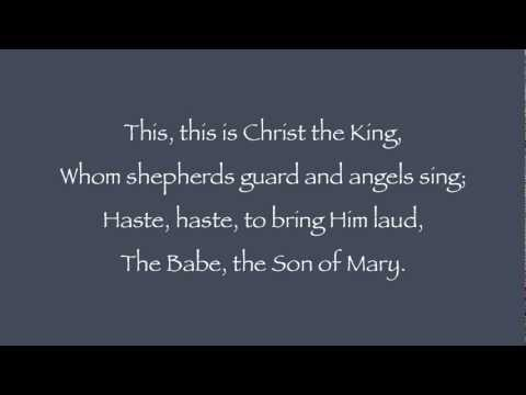 """What Child is This? -  Lyrics with Piano (traditional tune """"Greensleeves"""")"""