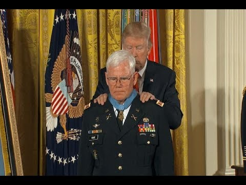 President Donald Trump awards medal of honor to Vietnam medic Retired Army Captain Gary Michael Rose