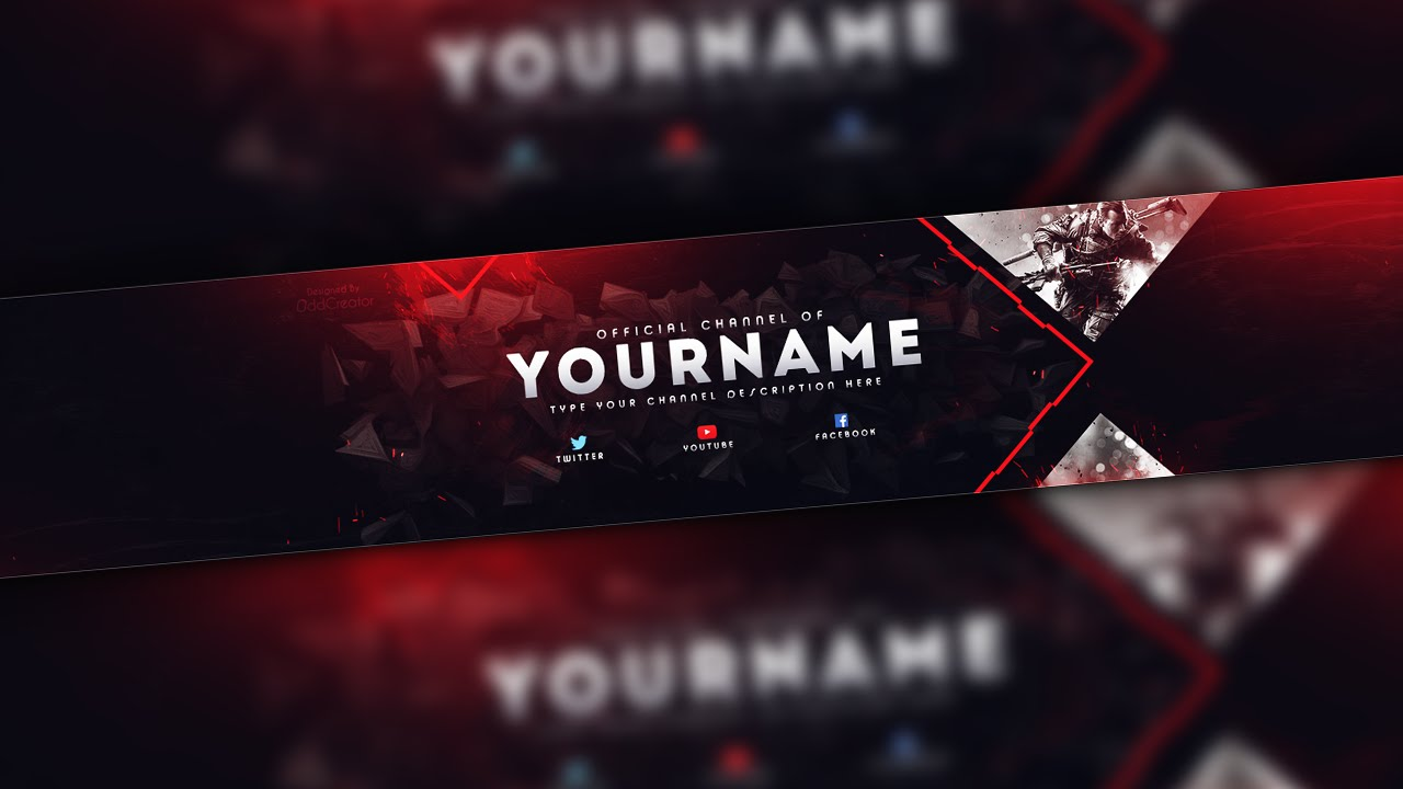 Photoshop - Gaming Banner Template - YouTube
