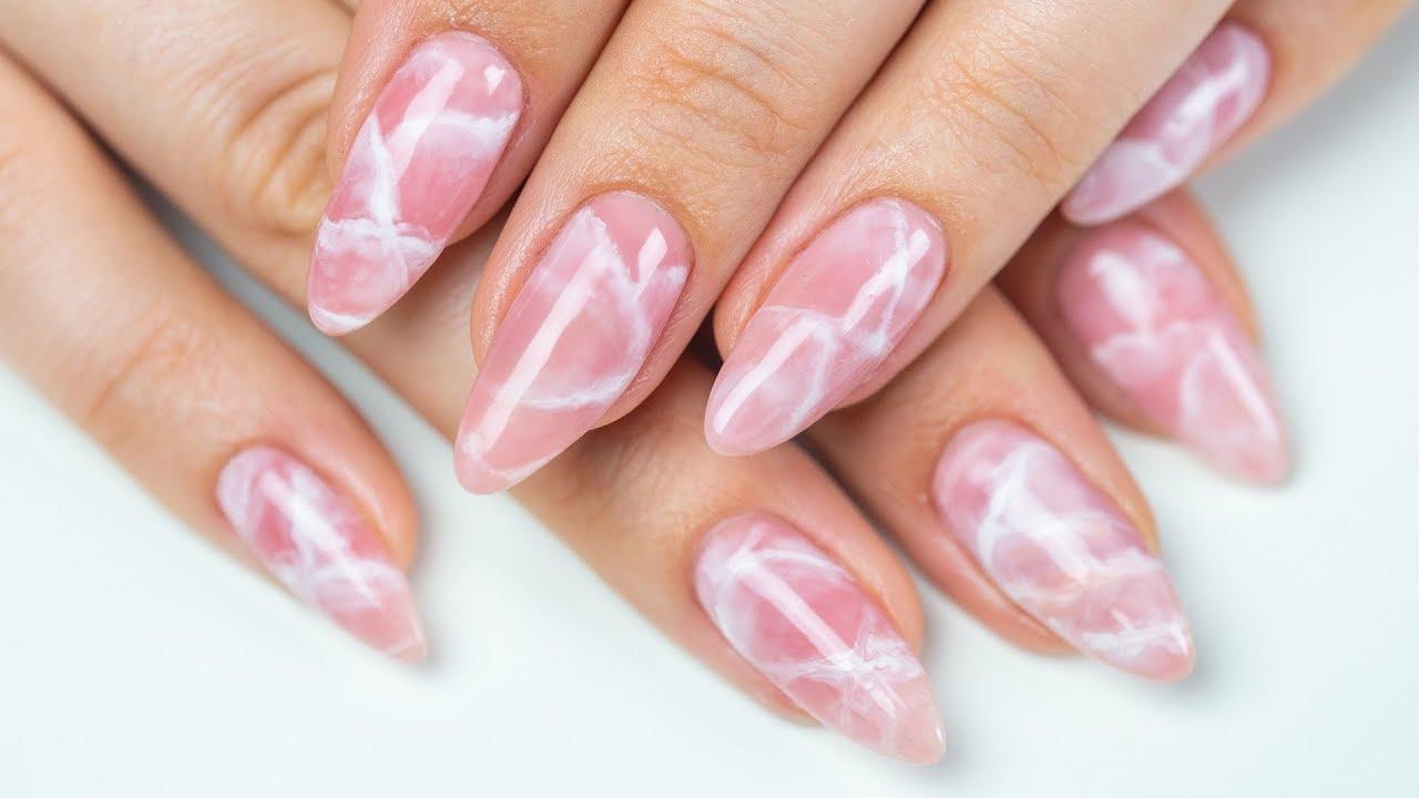 Paznokcie Hybrydowe Różowe Wzory