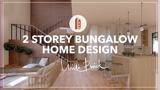 2 STOREY BUNGALOW HOUSE | EXCLUSIVE CUSTOM DESIGN BY UNITI BRICK