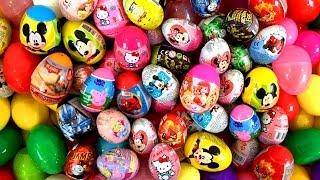 Surprise Eggs Peppa Pig Mickey Angry Birds Hello Kitty サプライズエッグ Disney Princess Huevos Sorpresa