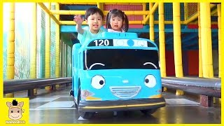 Indoor Playground Tayo Bus in Real Life Family Fun Play Area Baby Nursery Rhymes | MariAndKids Toys
