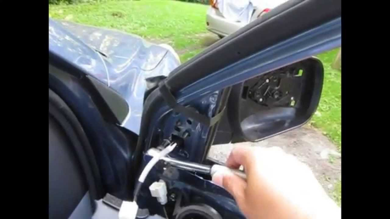 toyota tundra wiring diagram 2010 brain inferior replace side mirror assembly for rav4 2012 - youtube