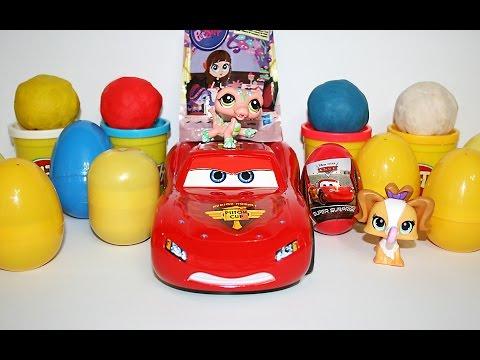 Киндер Сюрпризы и Играем в тачки - Play Car toy videos for kids