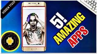 Top 5 Latest UNIQUE Android Apps | Best 5 Android APPS
