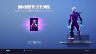 How I got the GALAXY SKIN FREE in Fortnite: Battle Royale (Whole Story)