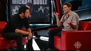 Michael Bublé mentions recording Stardust with Naturally 7 for his new album on CBC's 'The Hour'