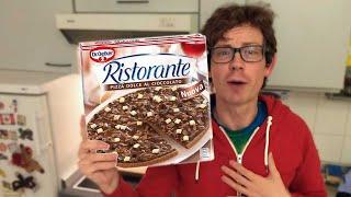 Schokoladen Pizza von Dr. Oetker im Test - So schmeckt die echte Schokoladenpizza aus dem Backofen!