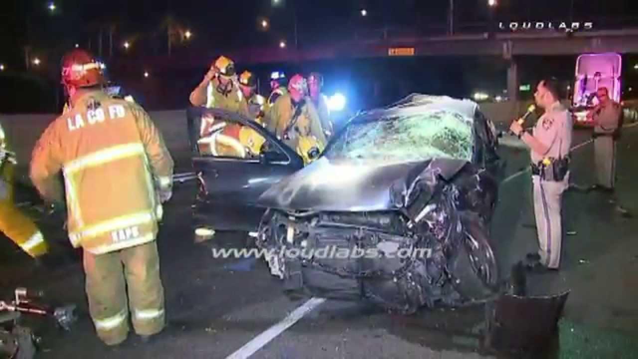 Female Driver Killed in Crash / Lynwood RAW FOOTAGE