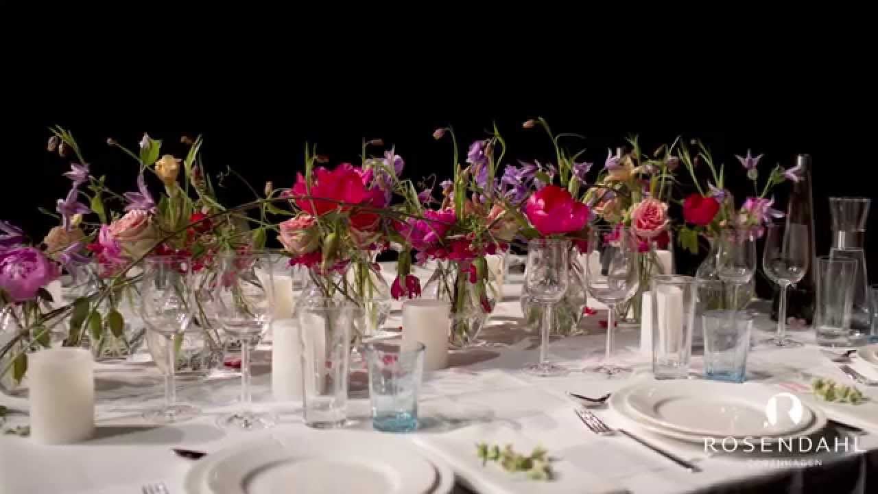 blomsterdekoration i glas