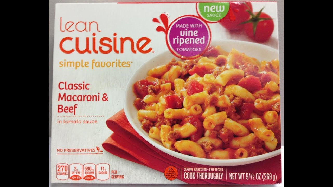 Lean cuisine classic macaroni beef food review youtube for Are lean cuisine dinners healthy