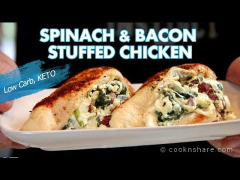 Creamy Spinach & Bacon Stuffed Chicken - KETO Diet