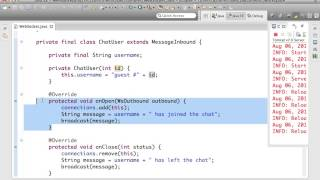 This short video clip goes over a code sample that shows how a WebS...