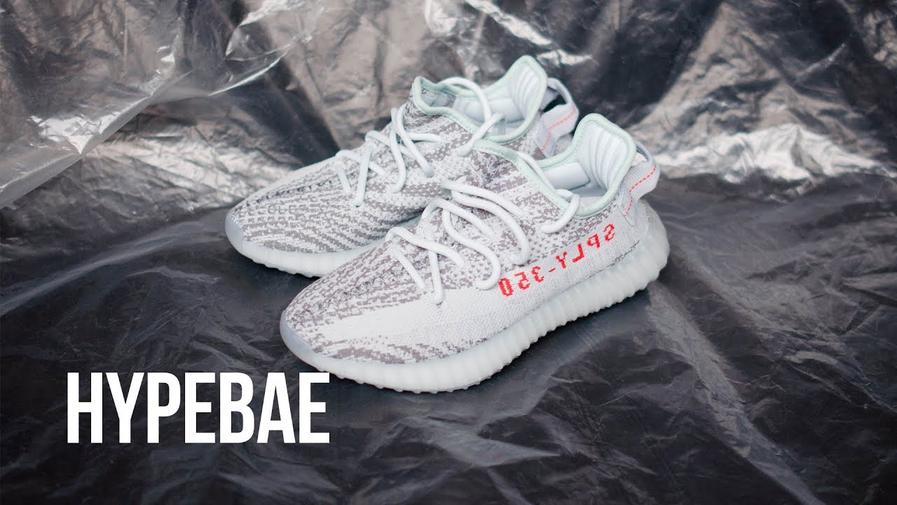 """348149cf2c305 YEEZY BOOST 350 V2 """"Blue Tint"""" Unboxing - YouTube"""