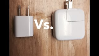 iPhone charger vs. iPad charger