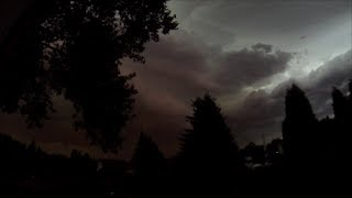 Mega Sturm / das Unwetter am Abend des 09.06.2014 in NRW / Ruhrgebiet - Gewitter, original Ton!
