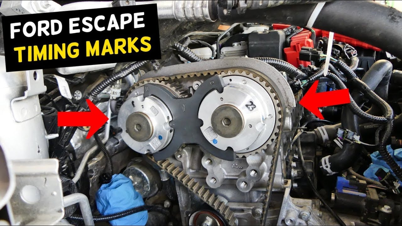 ford escape timing marks 2013 2014 2015 2016 2017 2018 youtube ford 58 timing cover diagram [ 1280 x 720 Pixel ]