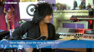 "Tip of the month: Steve Stevens shows how to play ""Rebel Yell"""