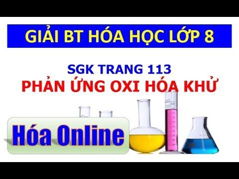 Giải bài tập hóa 8 trang 113 – Phản ứng oxi hóa khử