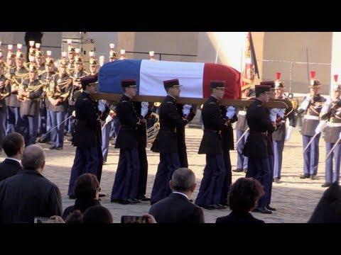 Ceremonie de l'hommage nationale de Charles Aznavour a Paris