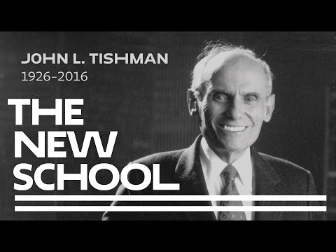 Memorial Service to Honor John L. Tishman at The New School