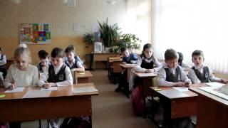 Урок математики в 1''А'' классе