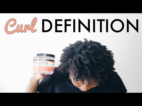 CURL DEFINITION FOR NATURAL 4C HAIR ft. Aunt Jackie's Flaxseed Elongating Curling Gel
