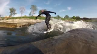 River Surfing Denver's River Run Park Before Work
