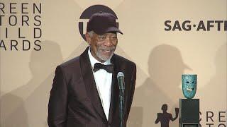 Morgan Freeman Backstage at the 2018 SAG Awards (Full Press Conference)