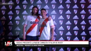 Adidas presentó la nueva camiseta titular de River