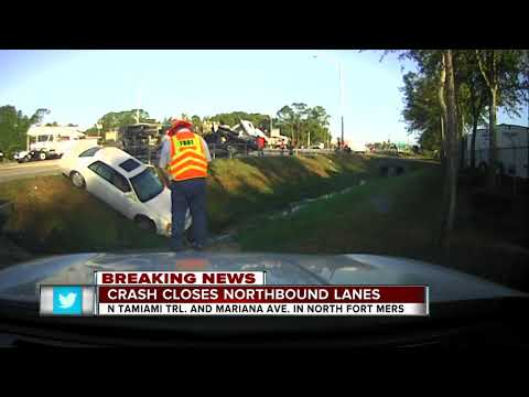Truck crash closes northbound lanes of Tamiami Trail in North Fort Myers