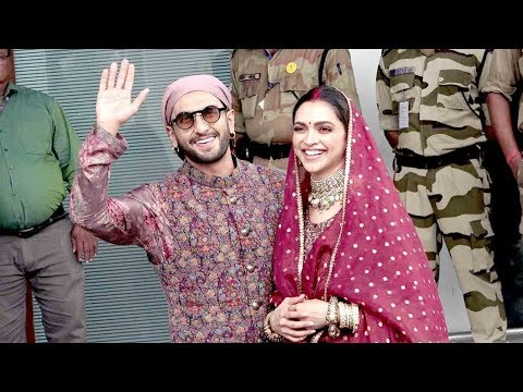 Deepika Padukone & Ranveer Singh Look So Happy aftr MAARRYING each other again on First WEDING Ani.