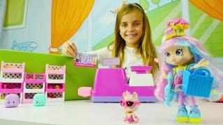 Spielzeugspaß für Mädchen - Shopkins Puppen - Rainbow Kate geht einkaufen